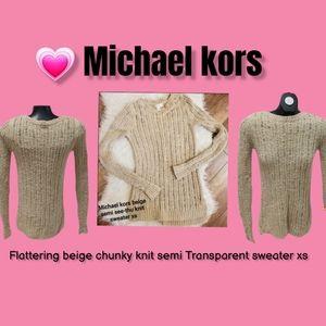 💗 Michael kors beige chunky knit sweater xs